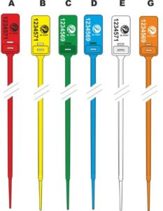 hectorsel Adjustable security plastic seal - colours